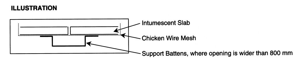 Intumescent coated slabs - Envirograf